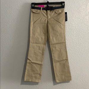 Girls Uniform Straight kaki Pants size 8